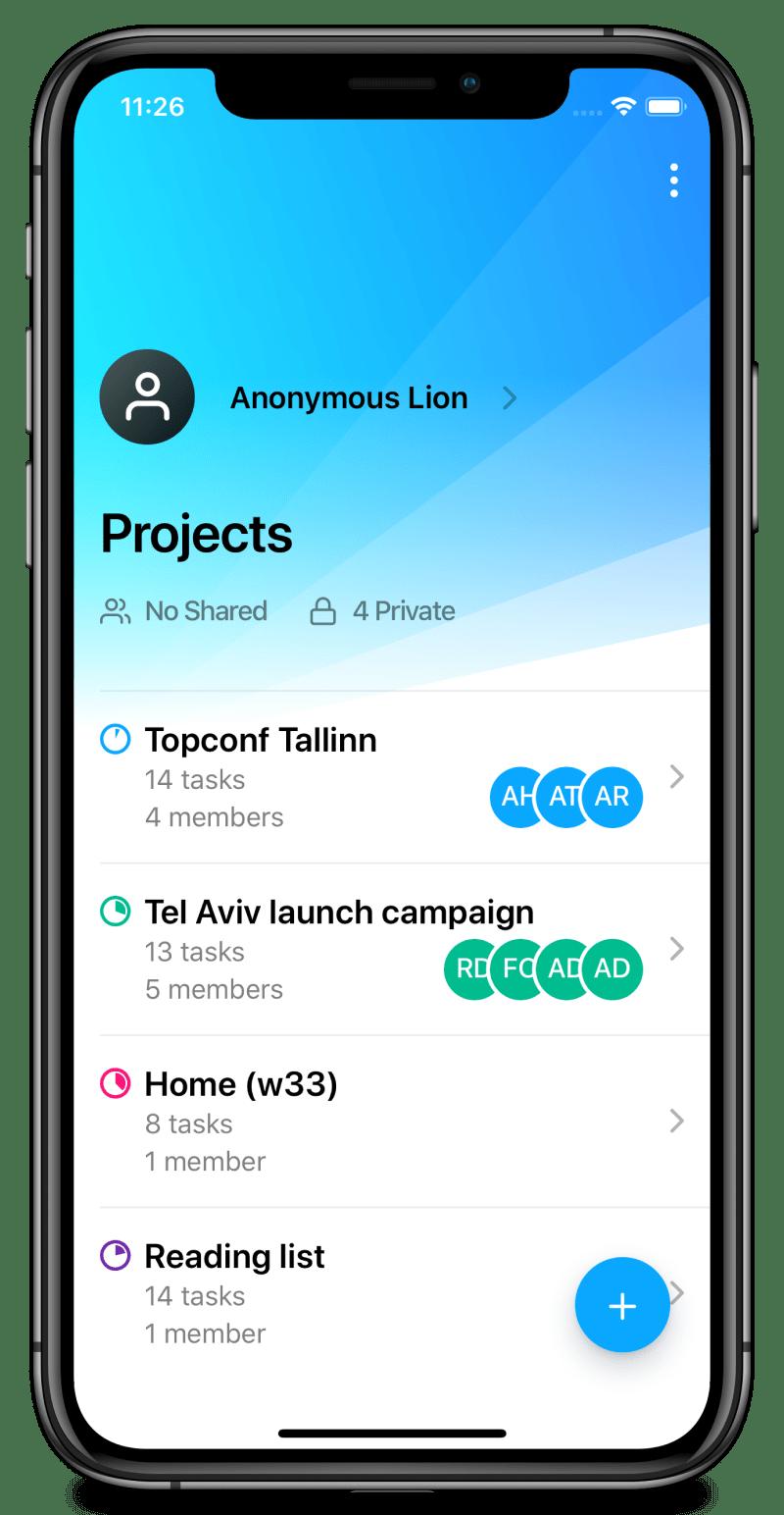 TaskMob mobile mockup